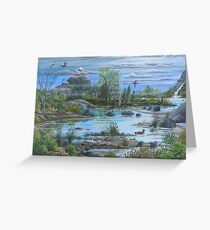 Tranquil Water Views.  Landscape Art Print,  limited edition by Vicki Alder Greeting Card