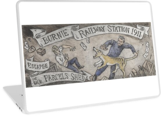 Escapee at Burnie Railway Station 1911 by SnakeArtist