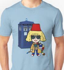 Fan Girl -sonic glasses & Tardis Unisex T-Shirt