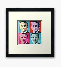 Macron Pop Art Framed Print