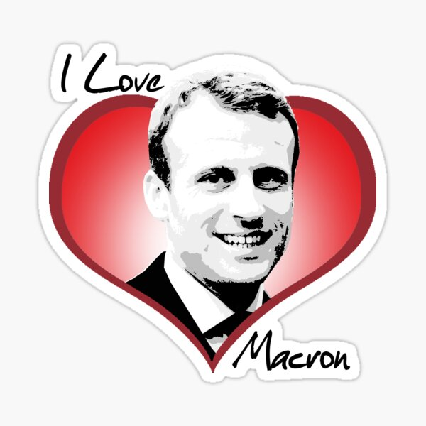J'aime Macron Sticker
