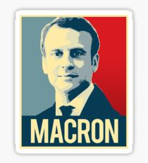Macron Propaganda Poster Sticker