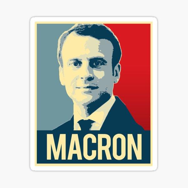 Affiche de propagande de Macron Sticker