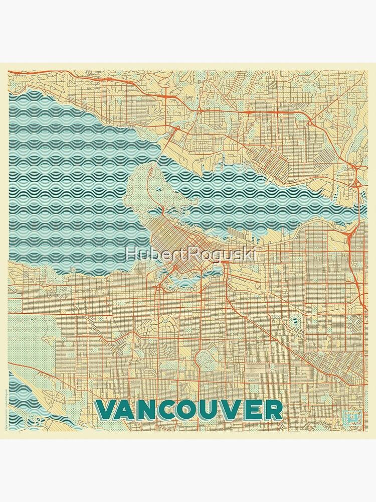 Vancouver Map Retro by HubertRoguski
