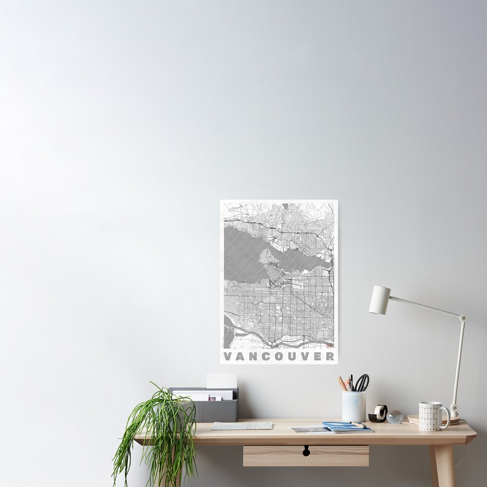 Vancouver Map Line Poster