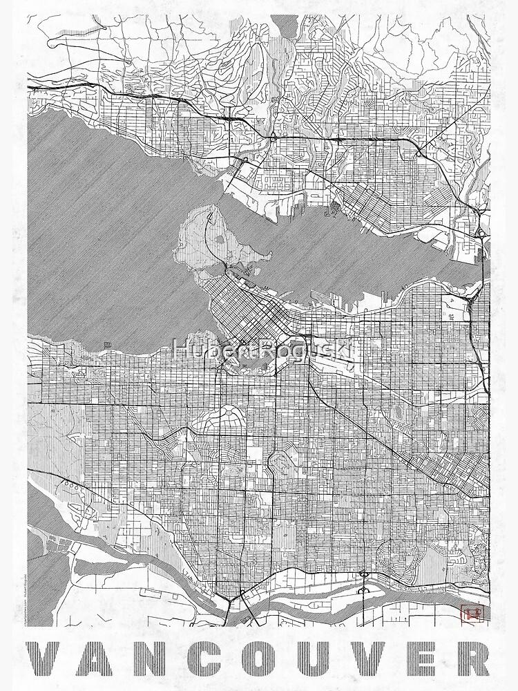 Vancouver Map Line by HubertRoguski