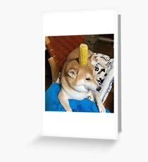 corn doggo Greeting Card