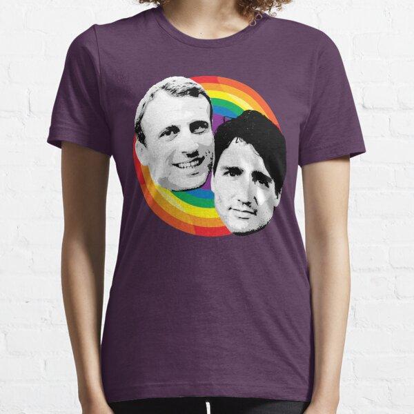 Macron et Trudeau Fierté T-shirt essentiel