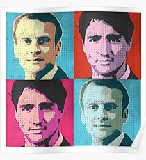 Trudeau and Macron Pop Art Poster