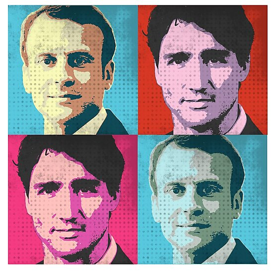 Trudeau and Macron Pop Art by popdesigner