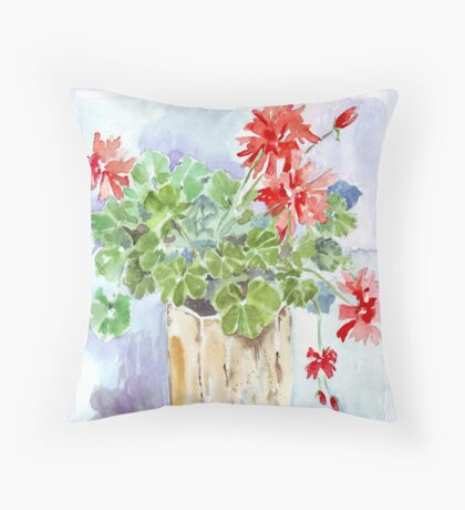 Such Geraniums! Throw Pillow