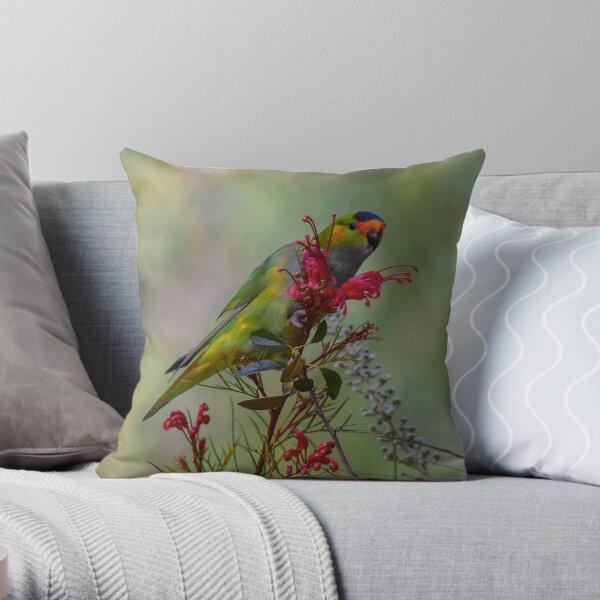 Purple Crowned Lorikeet Throw Pillow