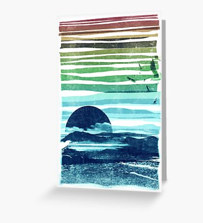 sea landscape Greeting Card
