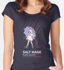 Pure White Salt Mage Women's Fitted Scoop T-Shirt