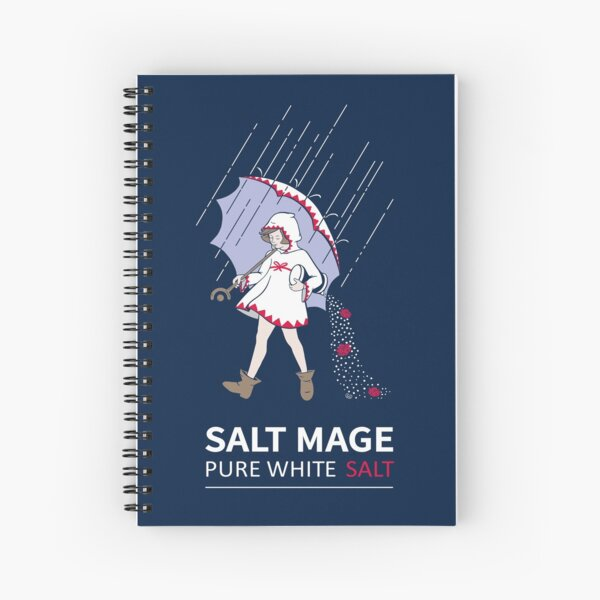 Pure White Salt Mage Spiral Notebook
