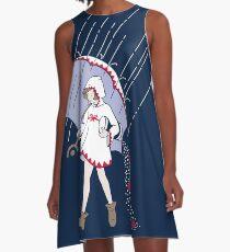 Pure White Salt Mage A-Line Dress