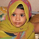 Beautiful Little Girl in a scarf by sayeeth