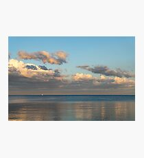 Solo Sail at Sunset Photographic Print