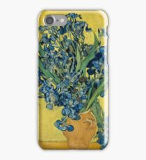 Still Life Vase with Violet Irises Against a Yellow Background 1890 Vincent van Gogh iPhone Case/Skin