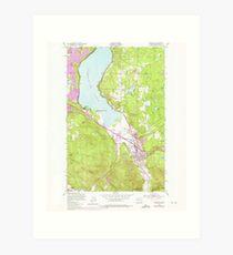 USGS Topo Map Washington State WA Issaquah 241676 1950 24000 Art Print