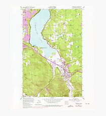 USGS Topo Map Washington State WA Issaquah 241676 1950 24000 Photographic Print