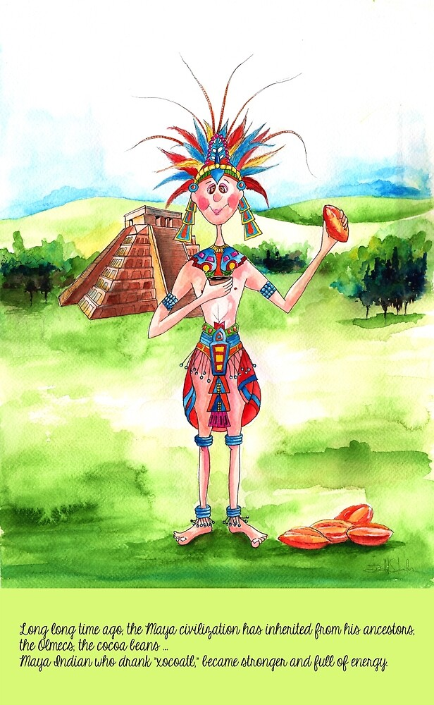 1-The Maya Indian and cocoa drink by IsabelSalvador