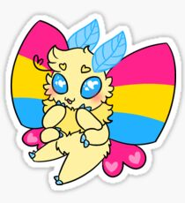 pride moth (pansexual) Sticker