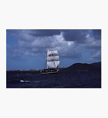 Tall Ship in the BVI Photographic Print
