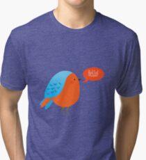 Cute bird saying hello Tri-blend T-Shirt