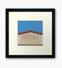 0131 Exterior of building retro Framed Print