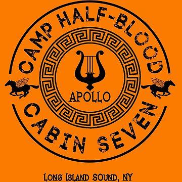 Percy Jackson - Camp Half-Blood - Cabin Seven - Apollo by gingerbun