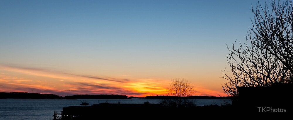 Sunset Jonesport Maine  by TKPhotos