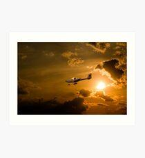 Firy Sky Landing Art Print