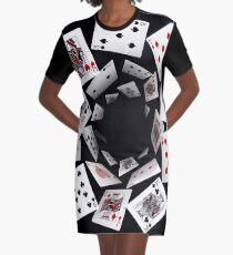 Fallende Karten T-Shirt Kleid