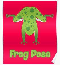 Animal Yoga Frog Pose Poster