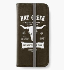 Hat Creek Cattle Company - Einsame Taube iPhone Flip-Case/Hülle/Klebefolie