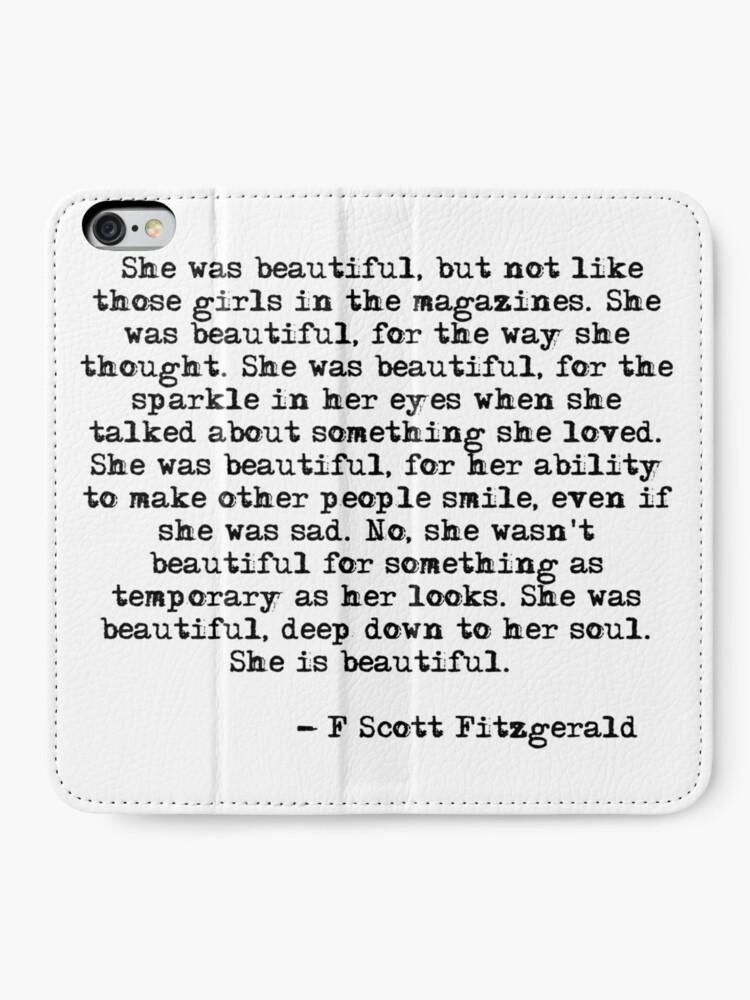Alternative Ansicht von Sie war wunderschön - F Scott Fitzgerald iPhone Flip-Case
