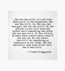 She was beautiful - F Scott Fitzgerald Scarf