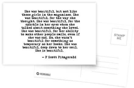 She was beautiful - F Scott Fitzgerald by peggieprints