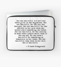 She was beautiful - F Scott Fitzgerald Laptop Sleeve