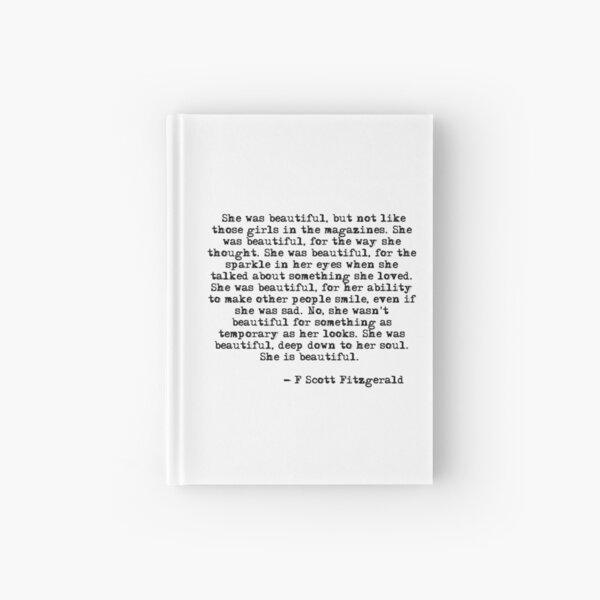 She was beautiful - F Scott Fitzgerald Hardcover Journal