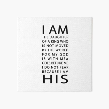 Christian Quote Art Board Print