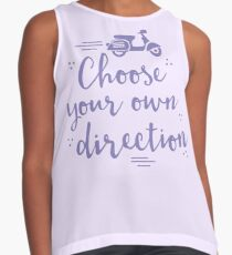 choose your own direction (with moped in purple) Contrast Tank