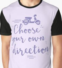 choose your own direction (with moped in purple) Graphic T-Shirt