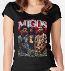 Migos 90s Inspired Print Women's Fitted Scoop T-Shirt