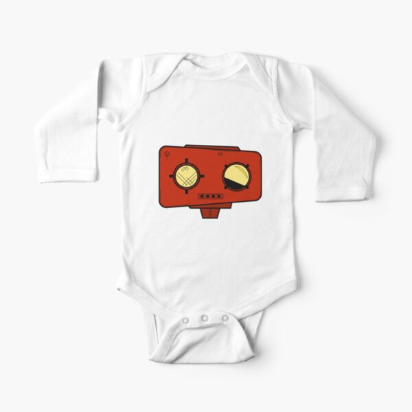 Robot Head Long Sleeve Baby One-Piece