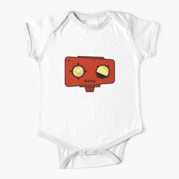 Robot Head Short Sleeve Baby One-Piece