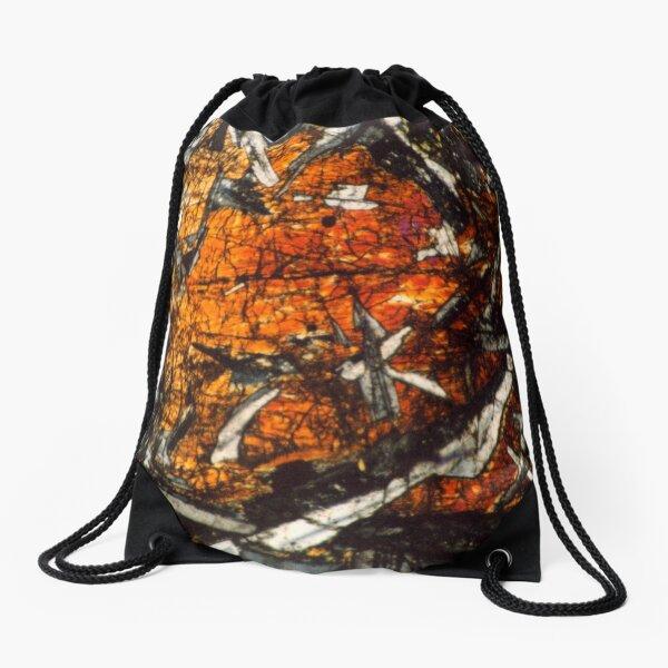 Pyroxene Crystals Mineral Thin Section Photo Drawstring Bag