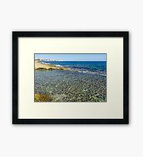 Mediterranean Delight - Maltese Natural Beach Pool Framed Print