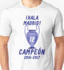 Hala Madrid Campeon duodecima Champions League T-Shirt